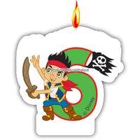 Jake piraterna i landet Ingenstans- tårtljus till 6-års dagen