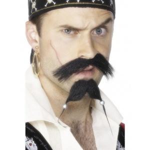 Piratmustasch och skägg set