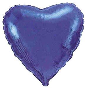 Folieballong - Hjärta Blått 45 cm